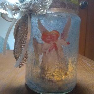 Angel Night Light Jar